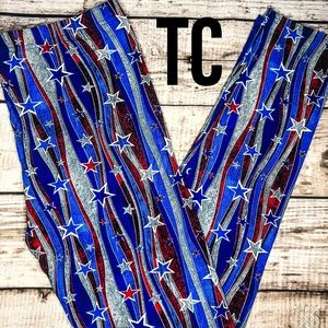Pants - TC Plus Sz Americana 4th of July Soft Leggings NWT
